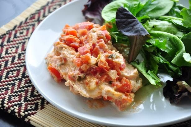 Salsa Cream Chicken Recipe. #chickenrecipes #germanrecipes
