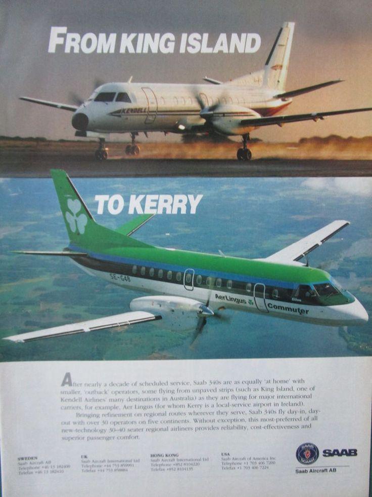 11/1993 PUB SAAB AIRCRAFT AB SWEDEN SAAB 340 KENDELL AIRLINES AER LINGUS AD