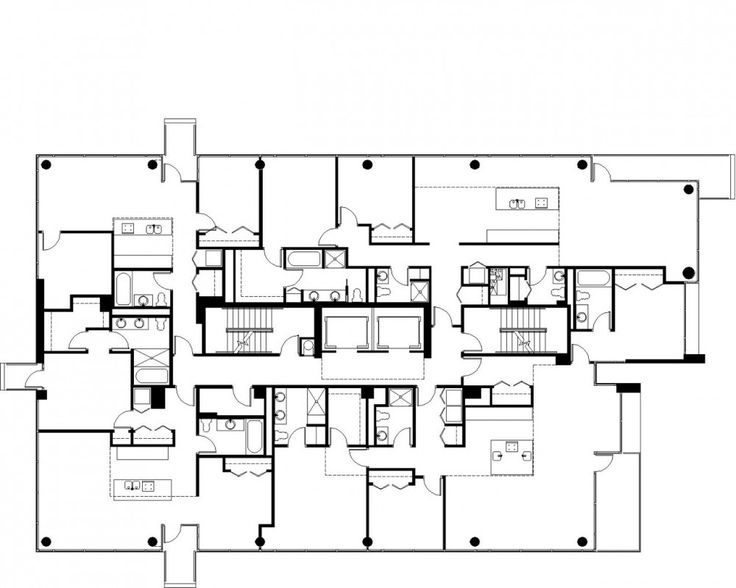 97 best residential buildings images on pinterest sup for Typical office floor plan