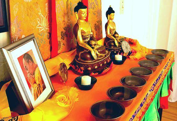 como montar um altar budista em casa