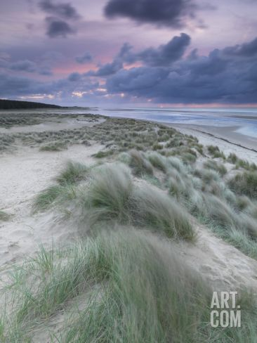 A Moody Spring Evening at Holkham Bay, Norfolk Photographic Print by Jon Gibbs at Art.com