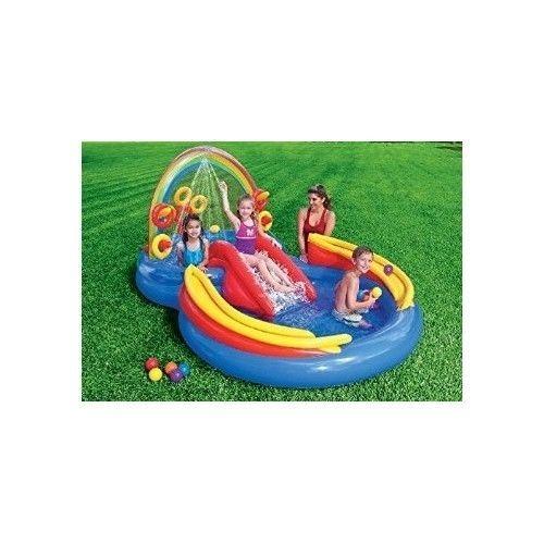 Kids Inflatable Pool Small Toddlers Children Kiddie Blow Up Swimming Water Slide #Intex
