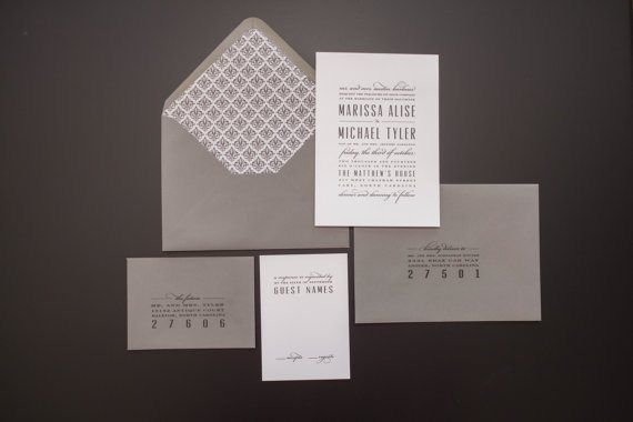 Grey wedding invitation - http://themerrybride.org/2015/06/20/wedding-invitations-on-etsy-com-2/