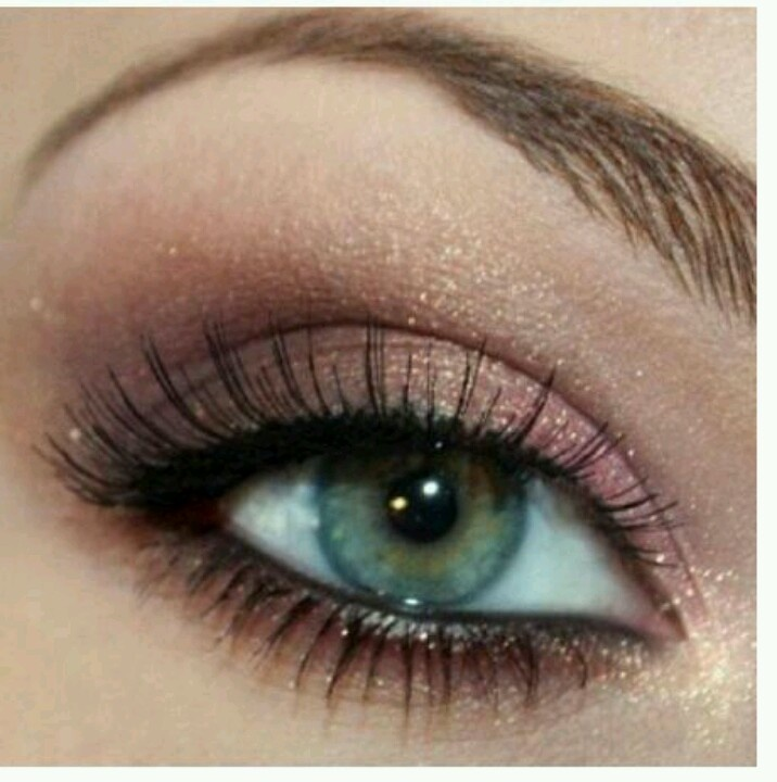 Wedding Eye Makeup Pink : Cute and simple blue eyed makeup Makeup