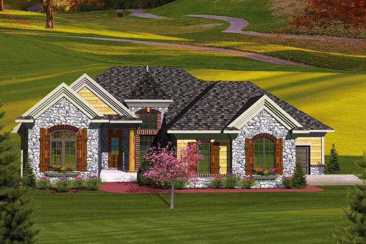 3 Bedroom European Home Plan - 89827AH | Architectural Designs - House Plans