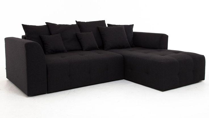 Svart Grizzlyn bäddsoffa med divan. Divansoffa, compact living, sovrum, vardagsrum, djup soffa, smart förvaring. http://sweef.se/soffor/108-grizzlyn-baddsoffa-divan.html