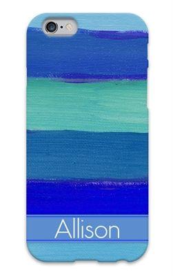 Brushstrokes paint on canvas custom phone case