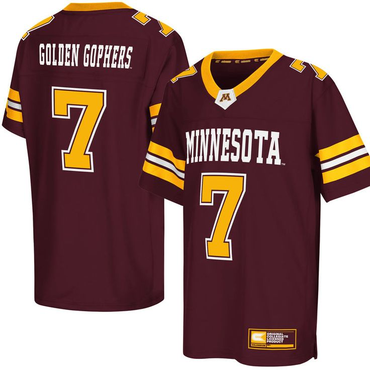 #7 Minnesota Golden Gophers Colosseum Youth Football Jersey - Maroon
