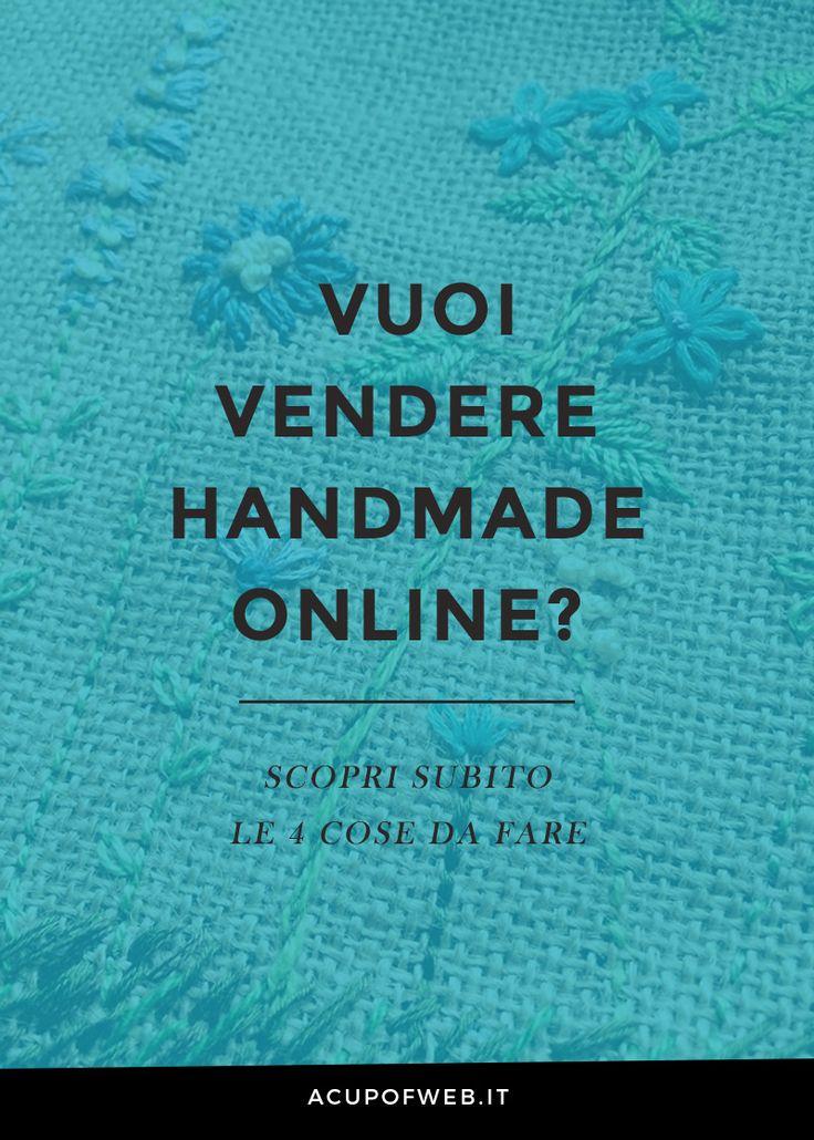 Vuoi vendere le tue creazioni handmade? Scopri le 4 cose da fare subito! http://acupofweb.it/sei-una-creativa-e-vuoi-farti-conoscere-ecco-5-cose-da-fare/  #handmade #artigianato #acupofweb #venderehandmade