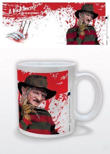 A Nightmare On Elm Street Freddy Krueger Ceramic Mug Novelty Gift @ niftywarehouse.com #NiftyWarehouse #NightmareOnElmStreet #Halloween #Freddy #FreddyKrueger #Horror #HorrorMovies