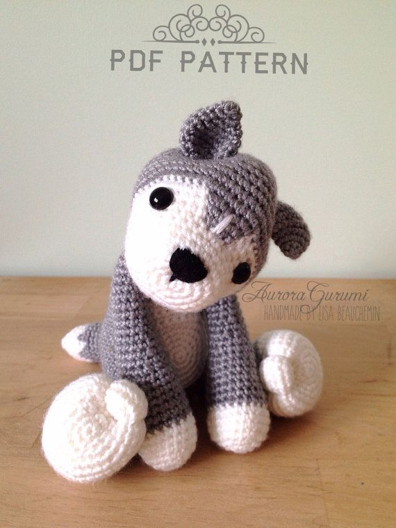 Nanook Husky #crochet wolf pdf pattern by AuroraGurumi on Etsy, $4.00