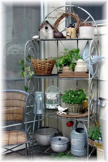 Outdoor Bakers Rack Plant Stand Woodworking Projects Amp Plans