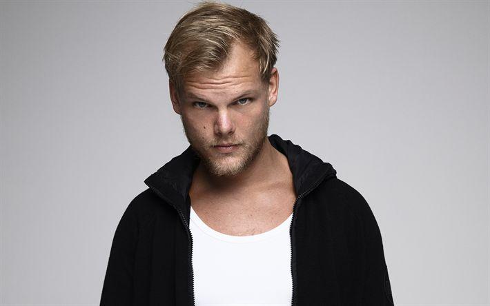 Descargar fondos de pantalla Avicii, 4k, DJ sueco, retrato, suéter negro