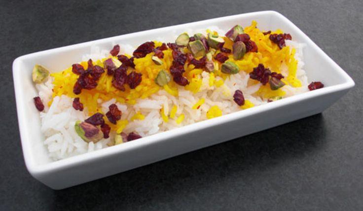 Persiskt ris med berberisbär och saffran - Recept