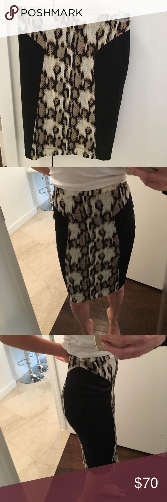Roberto Cavalli Cheetah Skirt Roberto Cavalli Cheetah Skirt. Great condition. Size 38 = size 2 U.S.  so comfortable and hot ! Roberto Cavalli Skirts