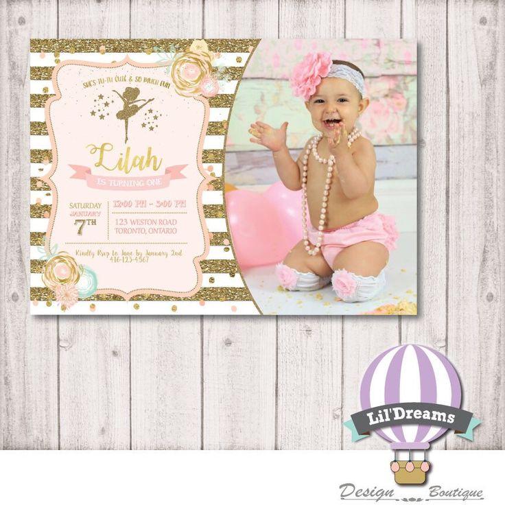 A personal favorite from my Etsy shop https://www.etsy.com/ca/listing/481447096/ballerina-birthday-invitation-princess