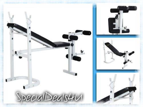 Weight Bench Press Home Gym Exercise Equipment Workout Adjustable Folding New #benchpressweighttraining