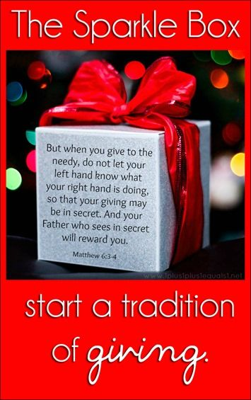 The Sparkle Box ~ a Tradition of Giving from @{1plus1plus1} Carisa