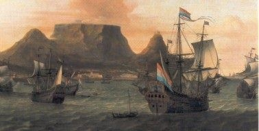 The East Dutch Indian Company arriving in the Cape