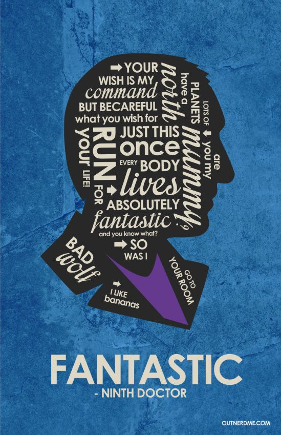 Dr. Who 9th Quote Poster