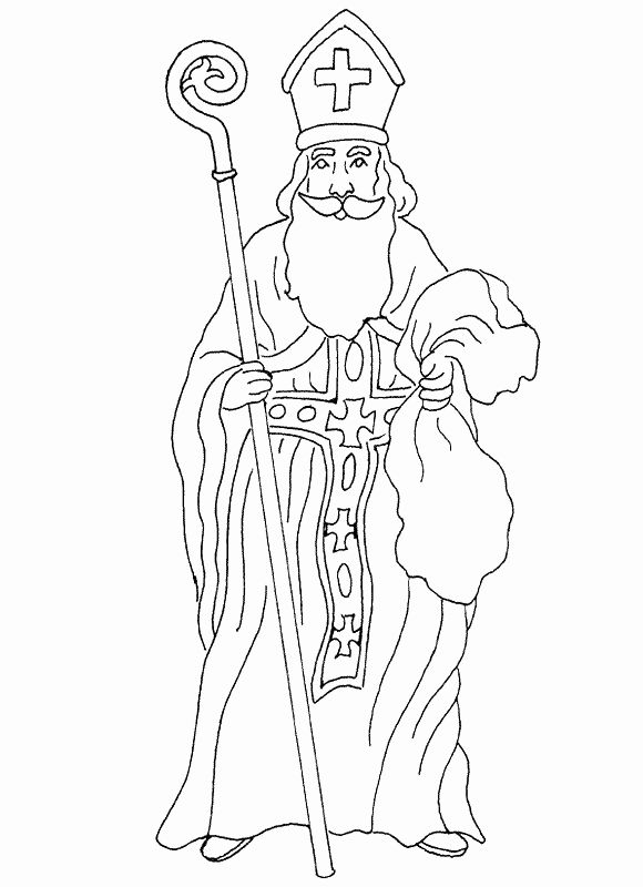 Saint Nicholas Coloring Page Fresh St Nicholas Coloring Page In 2020 Coloring Pages Creation Coloring Pages Saint Nicholas