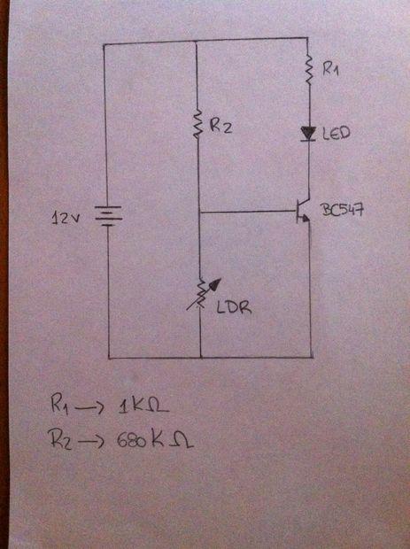 Simple Dark sensor LDR circuit..