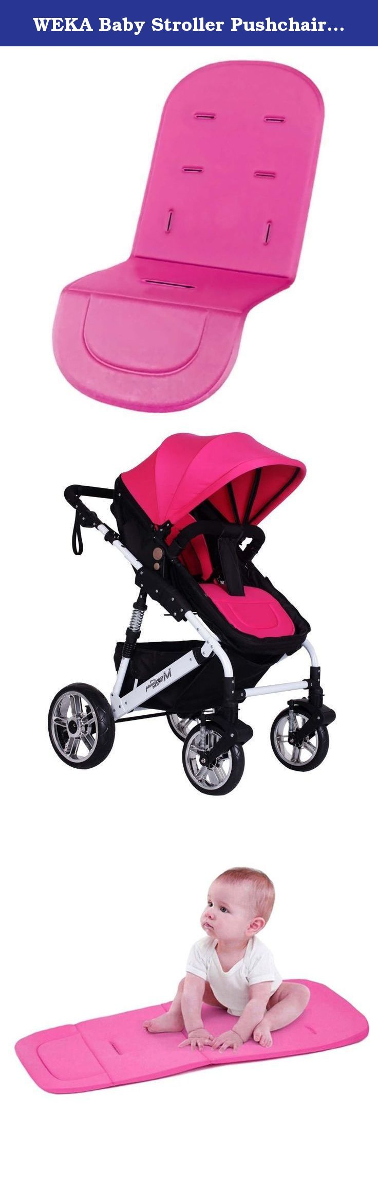 WEKA Baby Stroller Pushchair Car Seat Cover Pad Liner Pram Accessories Peach. Description: Environment and safety for baby pram The Stroller Padding/Liner is a soft and comfy padding for your child to be cuddled in Its a celebration of softness for your baby . The Padding is machine washable (30 Deg.) and is very easy to attach or remove It has special slits for the pram straps Cushion for: Chair, strollers, car seats, strollers and chairs and other products General style, comfortable...