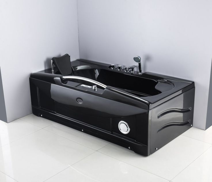 1 Person Jetted Whirlpool Tub Massage Hydrotherapy Bathtub Tub Indoor 001A BLACK