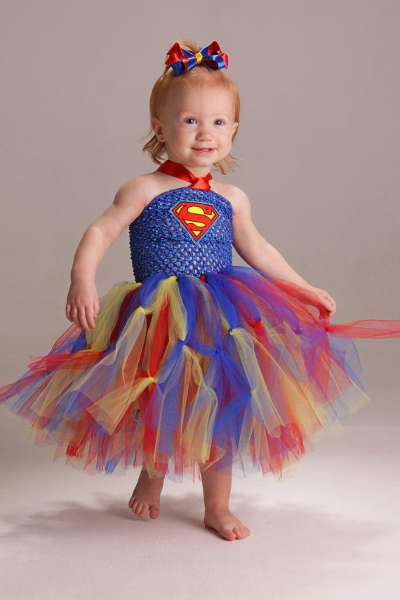 Superman tutu dress and matching bow by Fancythatcreation on Etsy, $30.00