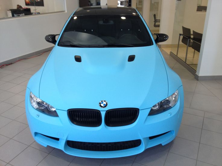 #Matte #SkyBlue total #covering on #BMW, #summer color ...