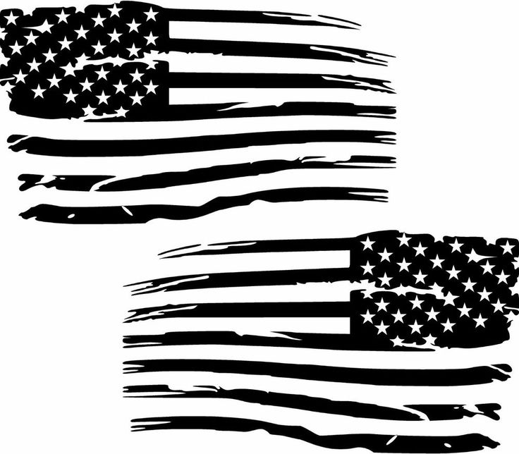 Details About Distressed American Flag Premium Vinyl Decal
