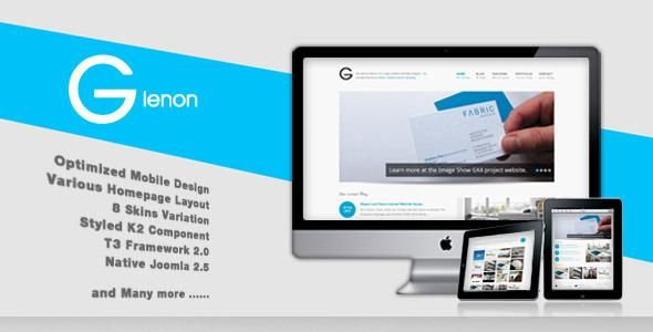 Glenon is simple, modern and impresive joomla template. it's a responsive templates and optimized for tablet and any others mobile screen. This template will also give you a great portfolio option to work with and it's very powerful for businesses, artists, website designers, books and more. Glenon comes with powerful T3 Joomlart Framework, best and selected extentions.