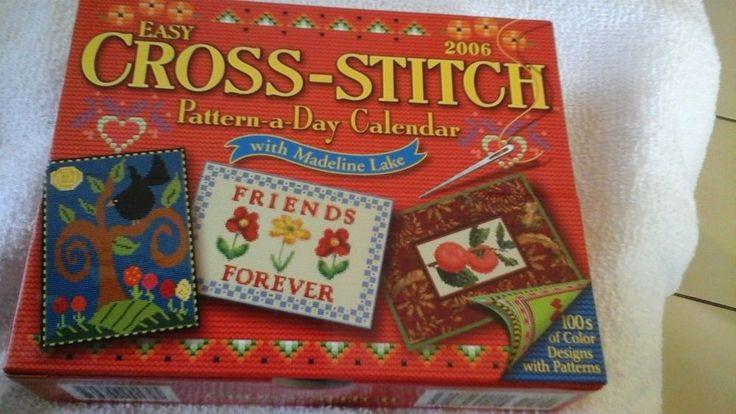 Easy Cross Stitch Pattern A  Day Calendar 2006 NEW #AccordPublishing