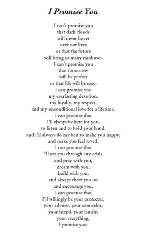 Would be beautiful wedding vows