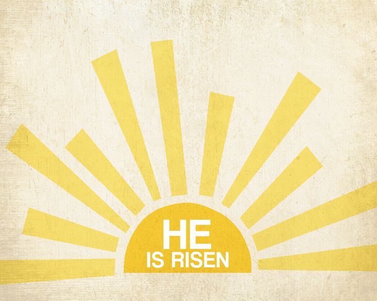 Image result for he is risen clip art
