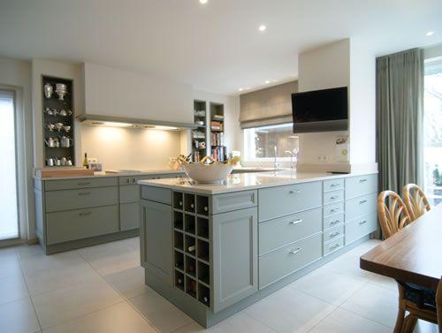 Groen keuken landelijk home design idee n en meubilair inspiraties - Groene en witte keuken ...