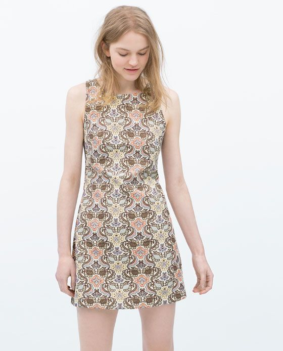 ZARA - WOMAN - SLEEVELESS JACQUARD DRESS
