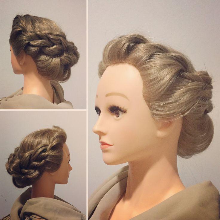 Peinado elegante para ir de boda. Elegant hairstyle for wedding.
