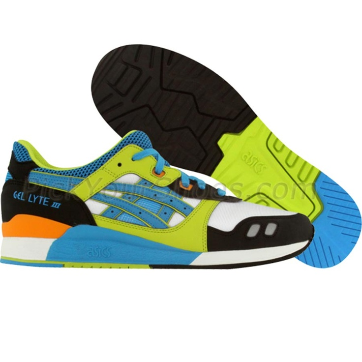 Asics Gel-Lyte III (white / astro / blue / green / orange)