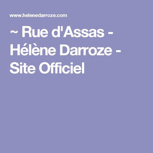 ~ Rue d'Assas - Hélène Darroze - Site Officiel
