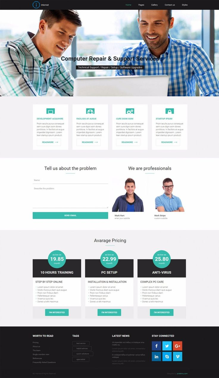PE Internet - simple business WordPress theme perfect for companies that offer specific computer services for customers.  #business #WordPress #theme https://www.pixelemu.com/wordpress-themes/i/14-internet