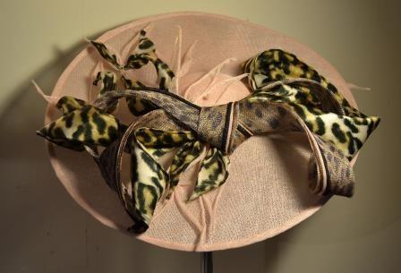 Close up of Mrs H's leopard trimmed saucer