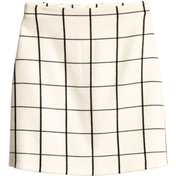 H&M Short skirt ($38) ❤ liked on Polyvore featuring skirts, mini skirts, bottoms, saias, faldas, short flared skirts, circle skirt, h&m, mini skater skirt and white circle skirt