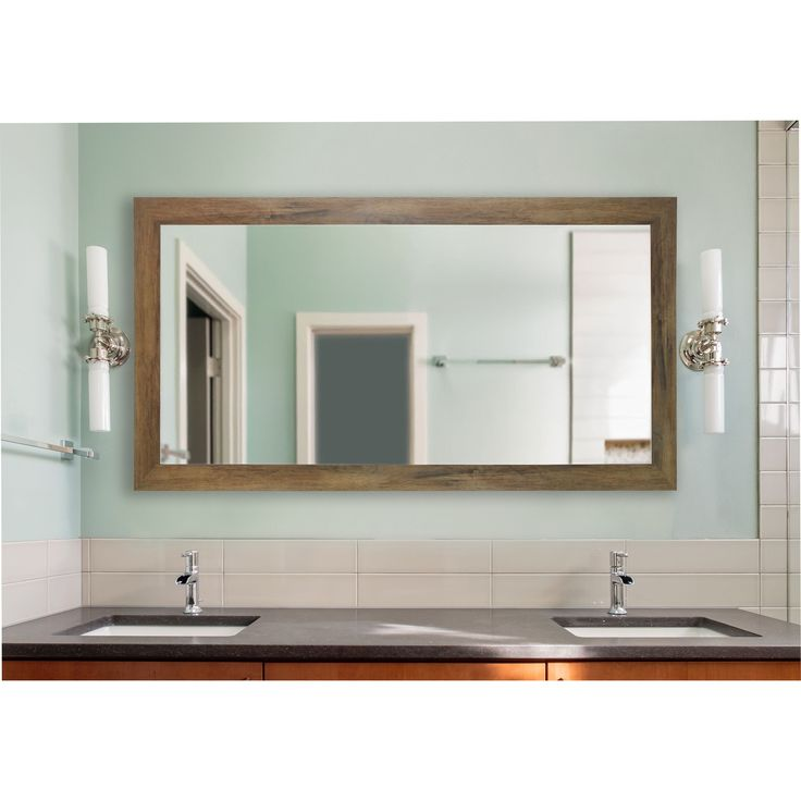 American Made Rayne Brown Barnwood Extra Large Wall/ Vanity Mirror (3
