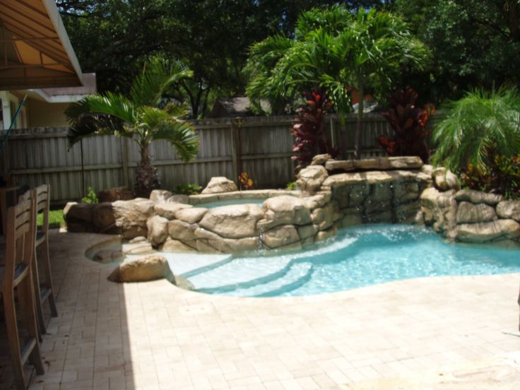 Mini pools for small backyards mini pools for small for Pool designs for small yards