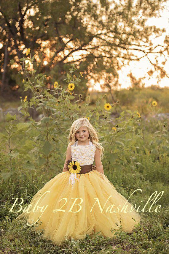 Flower Girl Dress Yellow Sunflower Dress Yellow Dress Lace Etsy Flower Girl Tulle Wedding Dress Sunflower Dress,Fitted Satin And Lace Wedding Dress