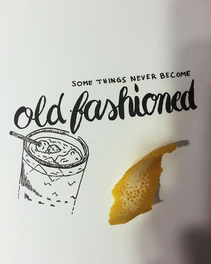 old fashioned - letterbrushed