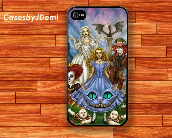 iPhone 4 /4S Case Alice in Wonderland iphone 5 by CasesByJDemi, $8.99