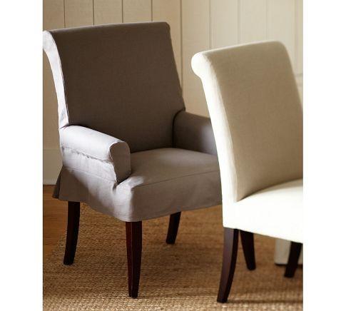 PB Comfort Short Slipcovered Chair