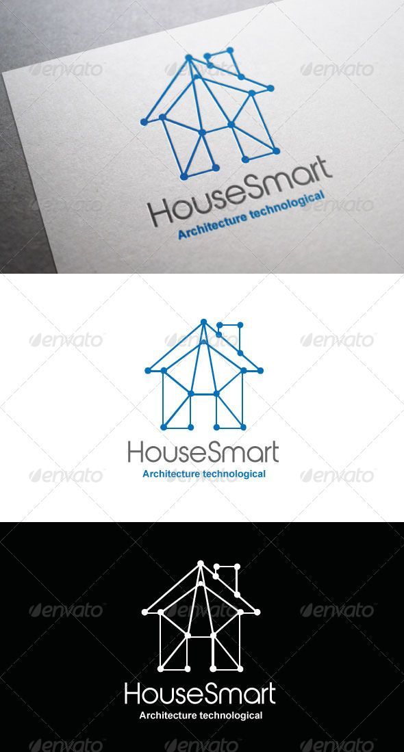 Logo HouseSmart  #GraphicRiver         Logo HouseSmart a logotype perfect for architects, agencies of architecture, companies related with construct and building.